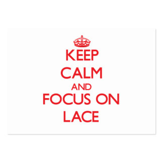 Keep Calm and focus on Lace Business Card Templates