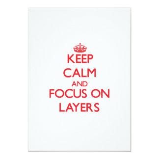 Keep Calm and focus on Layers Custom Announcement