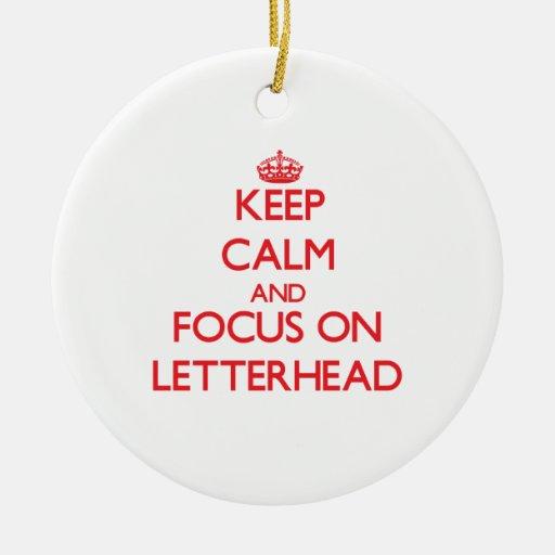 Keep Calm and focus on Letterhead Christmas Tree Ornament