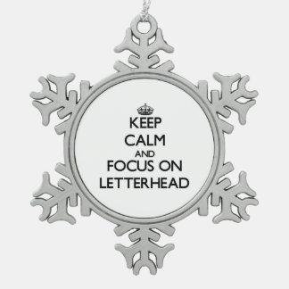 Keep Calm and focus on Letterhead Ornament