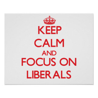 Keep Calm and focus on Liberals Print