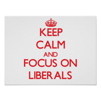 Keep Calm and focus on Liberals Posters
