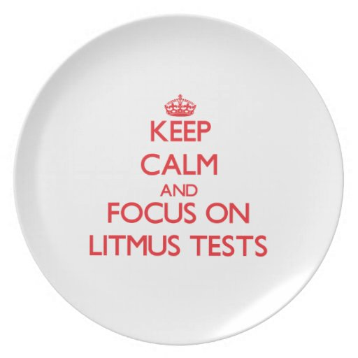 Keep Calm and focus on Litmus Tests Dinner Plate