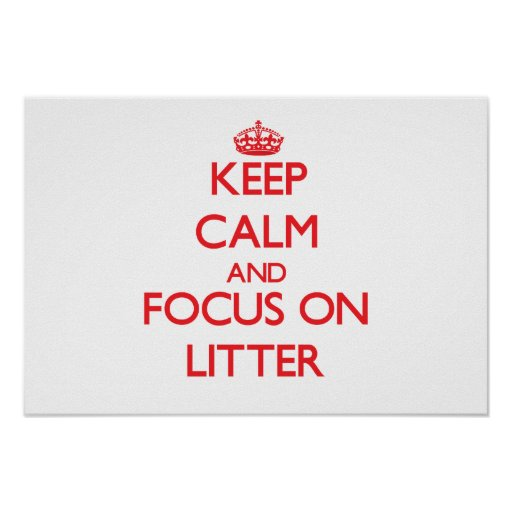 Keep Calm and focus on Litter Poster
