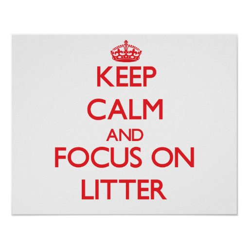Keep Calm and focus on Litter Posters