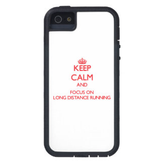 Keep calm and focus on Long Distance Running iPhone 5 Cover