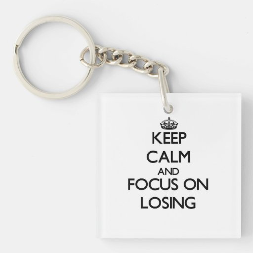 Keep Calm and focus on Losing Acrylic Key Chain