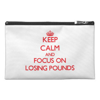 Keep Calm and focus on Losing Pounds Travel Accessories Bags