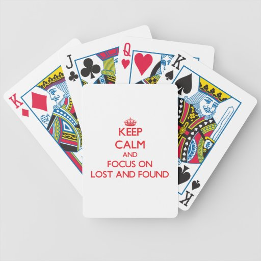 Keep Calm and focus on Lost And Found Bicycle Card Deck