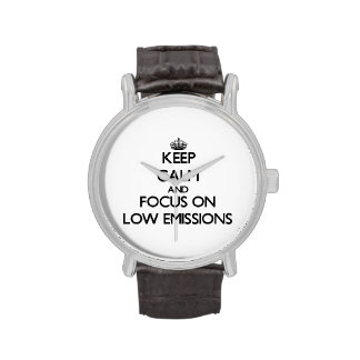 Keep Calm and focus on LOW EMISSIONS Wristwatch