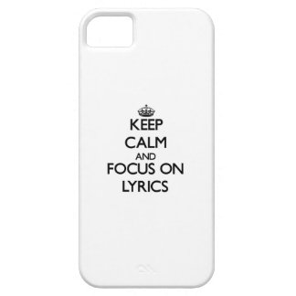 Keep Calm and focus on Lyrics Cover For iPhone 5/5S