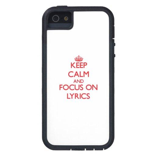 Keep Calm and focus on Lyrics iPhone 5 Covers
