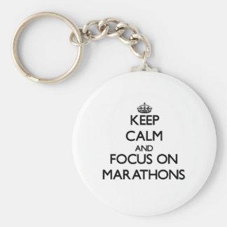 Keep Calm and focus on Marathons Key Ring