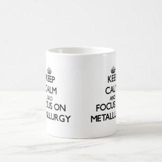 Architecture blueprint coffee travel mugs zazzle keep calm and focus on metallurgy coffee mug malvernweather Gallery