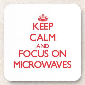 Keep Calm and focus on Microwaves Beverage Coaster