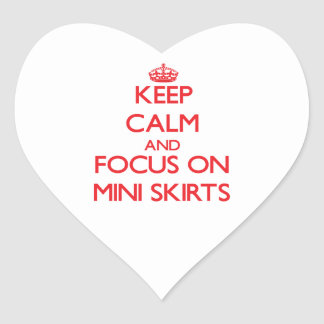 Keep Calm and focus on Mini Skirts Sticker
