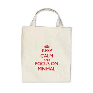 Keep Calm and focus on Minimal Canvas Bags
