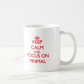 Keep Calm and focus on Minimal Coffee Mug