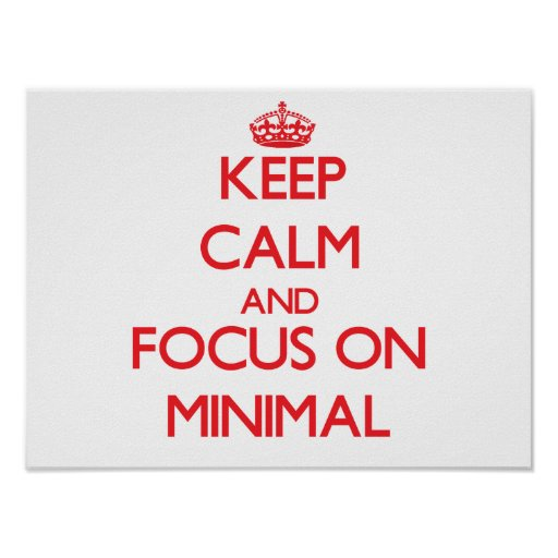 Keep Calm and focus on Minimal Posters