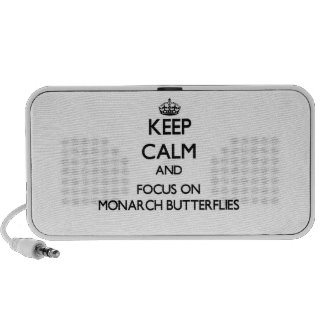 Keep calm and focus on Monarch Butterflies Portable Speaker