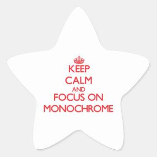 Keep Calm and focus on Monochrome Star Sticker