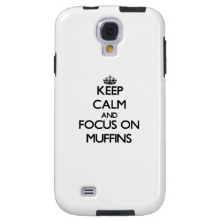Keep Calm and focus on Muffins Galaxy S4 Case