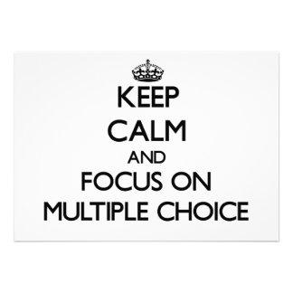 Keep Calm and focus on Multiple Choice Card