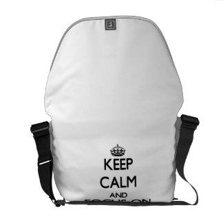 Keep Calm and focus on My Bathroom Courier Bag