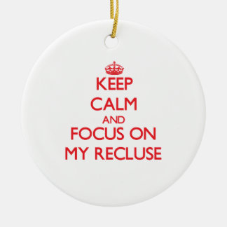 Keep Calm and focus on My Recluse Ornament