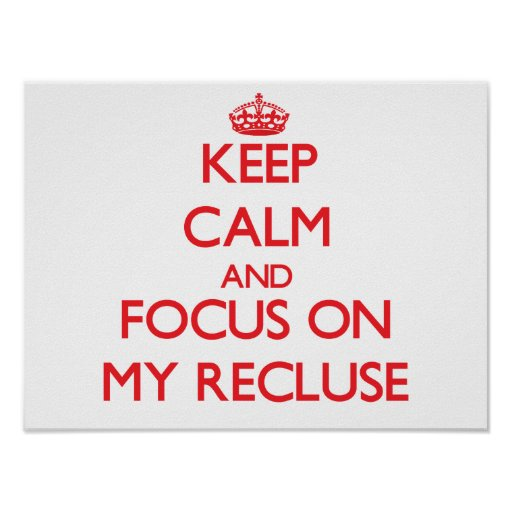 Keep Calm and focus on My Recluse Poster