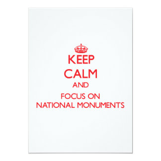 Keep Calm and focus on National Monuments Card