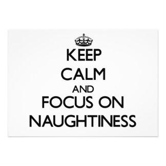 Keep Calm and focus on Naughtiness Custom Invite