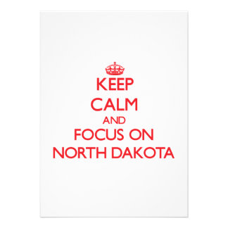 Keep Calm and focus on North Dakota Announcements