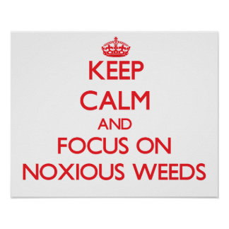Keep Calm and focus on Noxious Weeds Poster