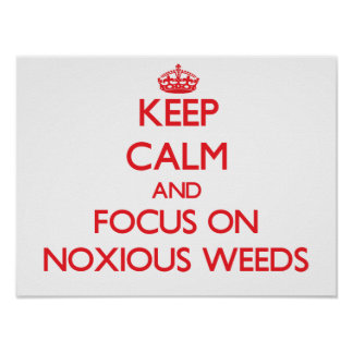 Keep Calm and focus on Noxious Weeds Posters