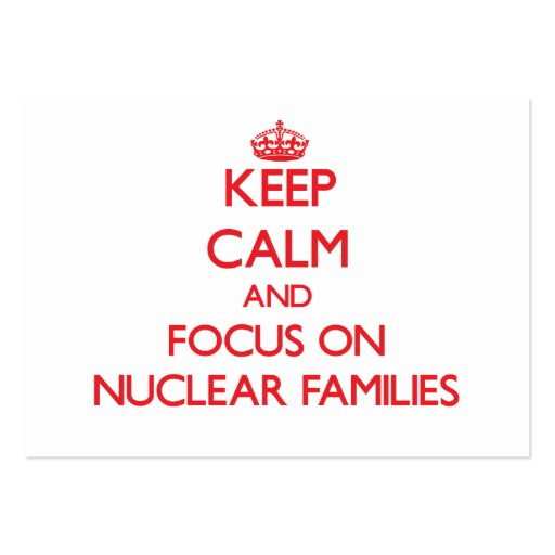 Keep Calm and focus on Nuclear Families Business Cards