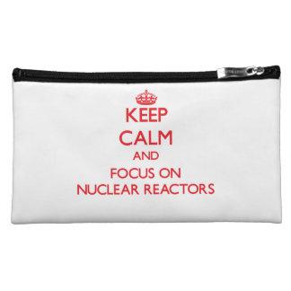 Keep Calm and focus on Nuclear Reactors Makeup Bag