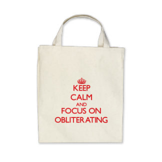 Keep Calm and focus on Obliterating Canvas Bags
