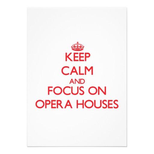 kEEP cALM AND FOCUS ON oPERA hOUSES Custom Invite