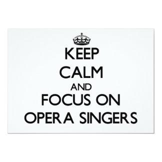 Keep Calm and focus on Opera Singers Custom Announcement