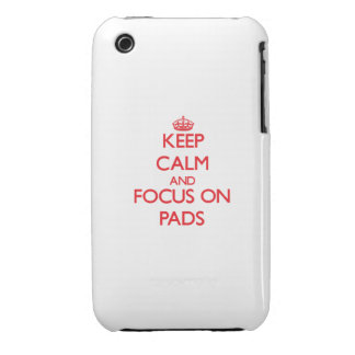 kEEP cALM AND FOCUS ON pADS iPhone 3 Case-Mate Cases