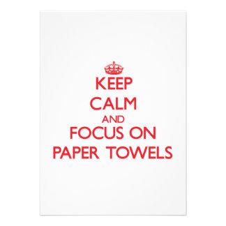 kEEP cALM AND FOCUS ON pAPER tOWELS Custom Invitation