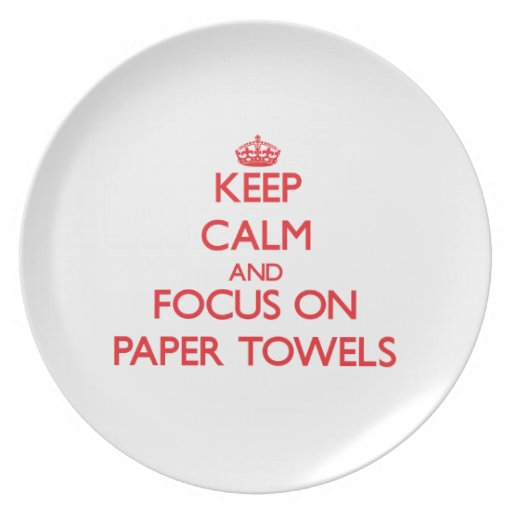 Keep Calm and focus on Paper Towels Dinner Plate