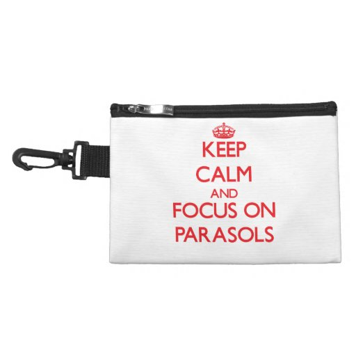 kEEP cALM AND FOCUS ON pARASOLS Accessory Bags