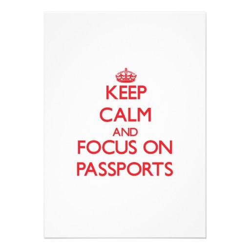 Keep Calm and focus on Passports Custom Invitation