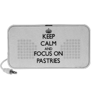 Keep Calm and focus on Pastries Mp3 Speaker