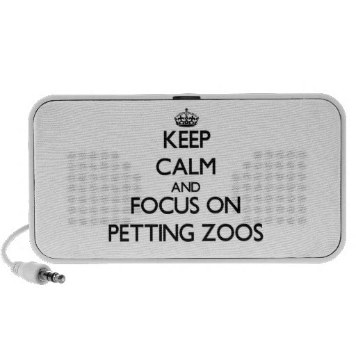 Keep Calm and focus on Petting Zoos iPhone Speaker