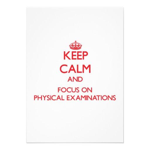 Keep Calm and focus on Physical Examinations Custom Announcements