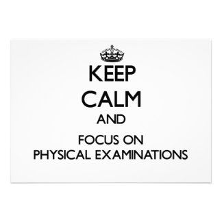 Keep Calm and focus on Physical Examinations Cards