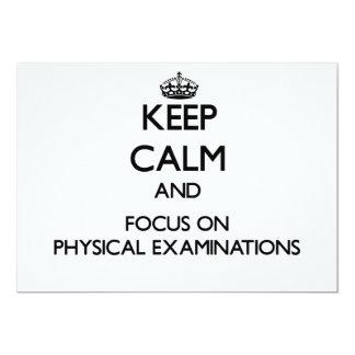 "Keep Calm and focus on Physical Examinations 5"" X 7"" Invitation Card"